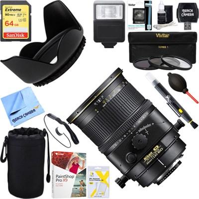 PC-E FX Full Frame Micro NIKKOR 45mm f/2.8D ED Lens + 64GB Ultimate Kit