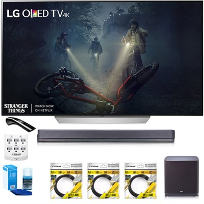 55` C7P OLED 4K HDR Smart TV OLED55C7P w/LGSJ9 Hi-Resolution Sound Bar Bundle