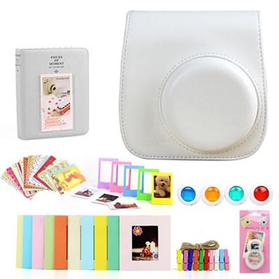 Accessories Bundle for Fujifilm Instax Mini 8/9, White