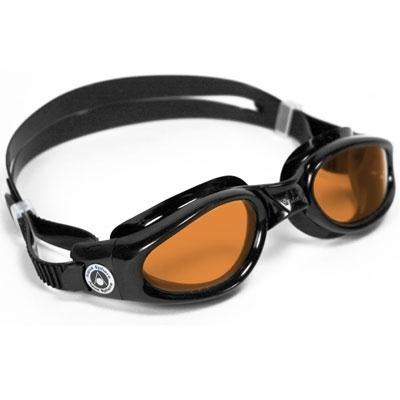 Aqua Sphere Kaiman Swim Goggle with Amber Lens and Black Frame - 171120