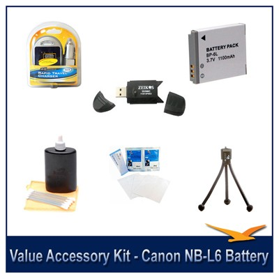 Value Accessory Kit For The Canon SX500,SX510,D30,SX700, S95 & SX280