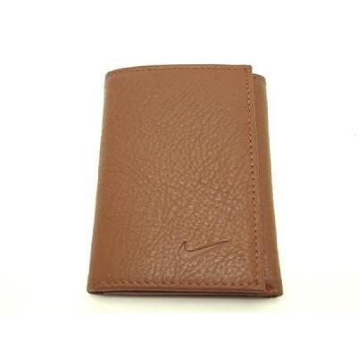 Tri Fold Pebble Grain Leather Passcase Wallet (Brown)