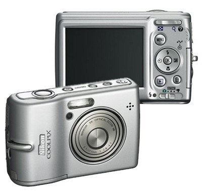 Coolpix L12 Digital Camera (Silver) Plus Free 1GB Memory Card