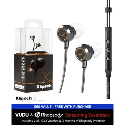 Reference X4i In-Ear Premium Headphones with In-Line Remote & $30 to VUDU