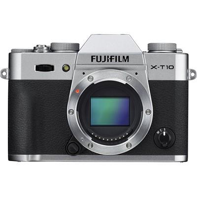 X-T10 Mirrorless 16.3MP Full HD Silver Compact System Digital Camera