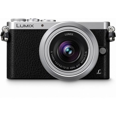 LUMIX DMC-GM1 Interchangeable Lens (DSLM) Black Camera with 12-32mm Silver Lens