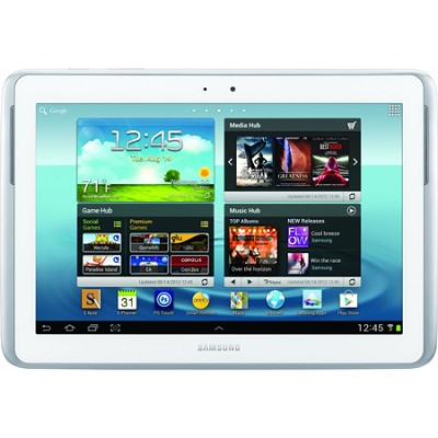 10.1` Galaxy Note 16GB Slate Tablet (White)