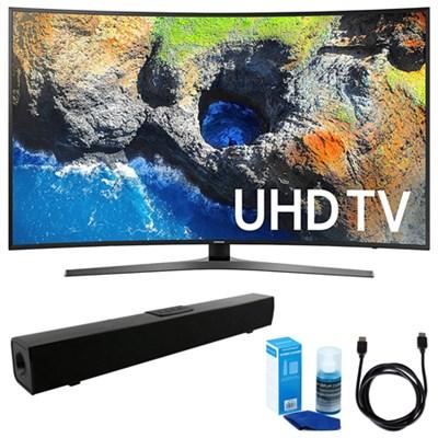 Curved 65` 4K Ultra HD Smart LED TV (2017 Model) w/ Sound Bar Bundle