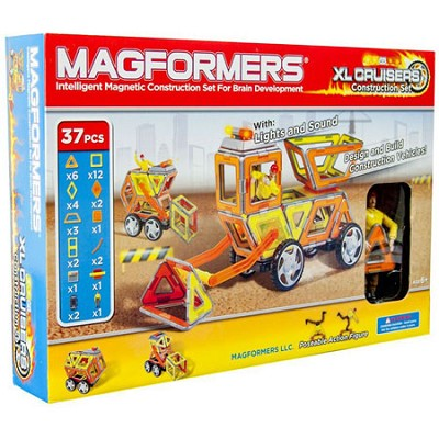 63080 XL Cruisers Magnetic Construction Vehicle 37pc Set