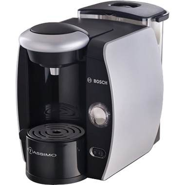 Tassimo Single-Serve Coffee Brewer - Silk Silver/Chrome Accents - New Torn Box