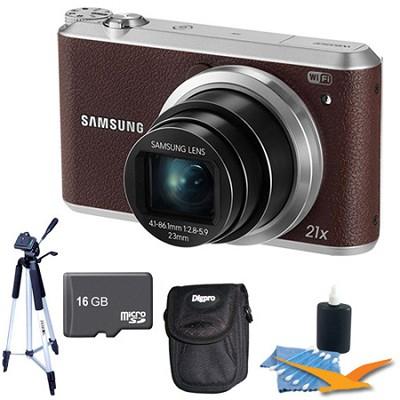 WB350 16.3MP 21x Opt Zoom Smart Camera Brown 16GB Kit