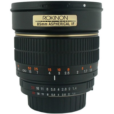 85mm f/1.4 Aspherical Full Frame Lens for Sony E-Mount