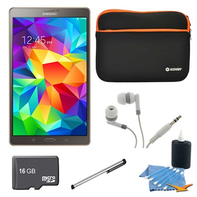 Galaxy Tab S 8.4` Tablet - (16GB, WiFi, Titanium Bronze) 16GB Accessory Bundle