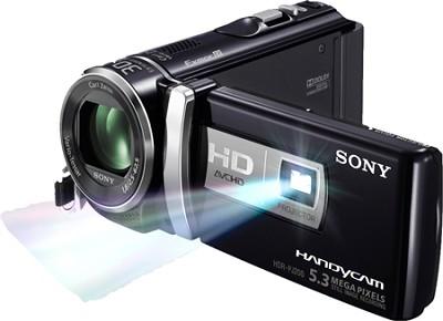 HDR-PJ200/B 5.3 MP Stills 25x Optical HD Projector & Camcorder (Black) -OPEN BOX