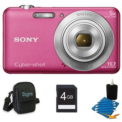 DSCW710 16 MP 2.7-Inch LCD Digital Camera Pink Kit