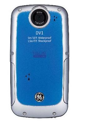 Active DV-1 AB Waterproof/Shockproof 1080P Pocket Video Camera Aqua Blue