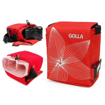 SKY G864 Camera Bag (Red) for Ultra-Zoom, Mirrorless and Compact SLR Cameras