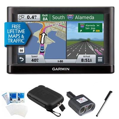 nuvi 56LMT Essential Series GPS Nav w/ Lifetime Maps & Traffic Essentials Bundle