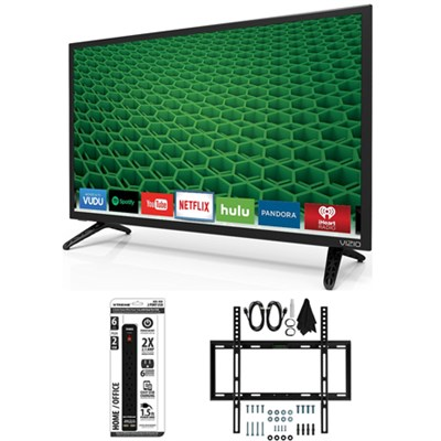 D28h-D1 - D-Series 28-Inch Full Array LED Smart TV Slim Flat Wall Mount Bundle