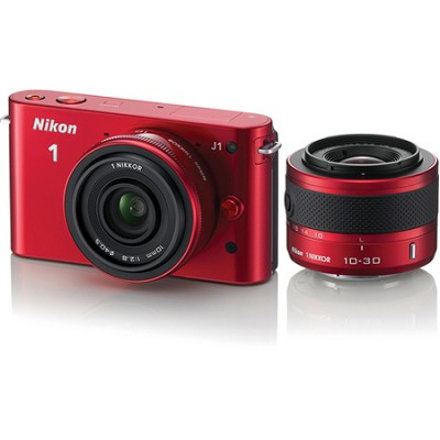 1 J1 SLR Red Digital Camera w/ 10mm & 10-30mm VR Lenses