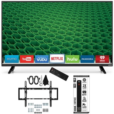 D50-D1 - D-Series 50-Inch Full Array LED Smart TV Flat + Tilt Wall Mount Bundle
