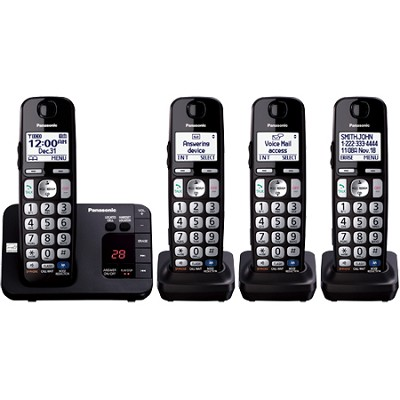 KX-TGE234B Expandable Phone w Answering Machine 4 Cordless Handsets REFURBISHED