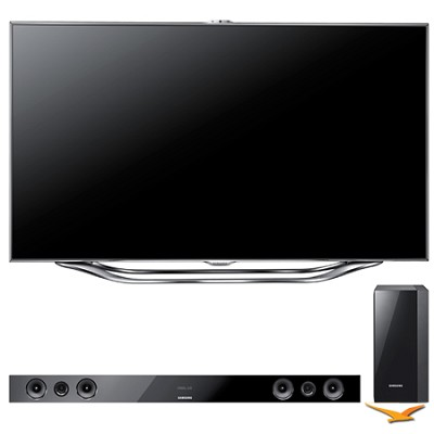 UN55ES8000 55` 1080p 240hz 3D Slim LED HDTV with FREE HWE-450 Soundbar Bundle