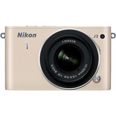 1 J3 14.2MP Beige Digital Camera with 10-30mm VR Lens Factory Refurbished
