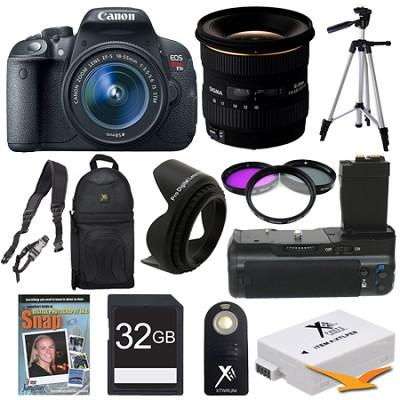EOS Rebel T5i SLR Digital Camera Landscape Photographer Deluxe Bundle