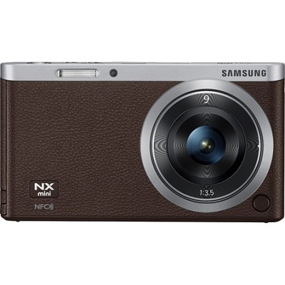 NX Mini Mirrorless Digital Camera with 9mm Lens - Brown