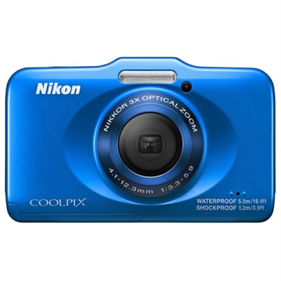 COOLPIX S31 10.1MP Waterproof Digital Camera w/ 720p HD Video (Blue) Refurbished