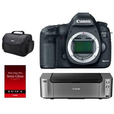 EOS 5D Mark III DSLR Camera Body + Pro 100 Printer / Paper / Gadget Bag