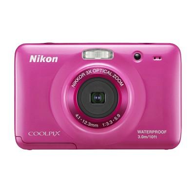 COOLPIX S30 10.1MP 2.7 LCD Waterproof, Shockproof Digital Camera - Pink