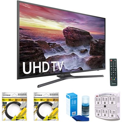 Flat 54.6` LED 4K UHD 6 Series Smart TV 2017 Model with Cleaning Bundle
