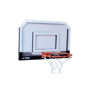 Door-Mount Mini Basketball Hoop with Ball (White/Black)