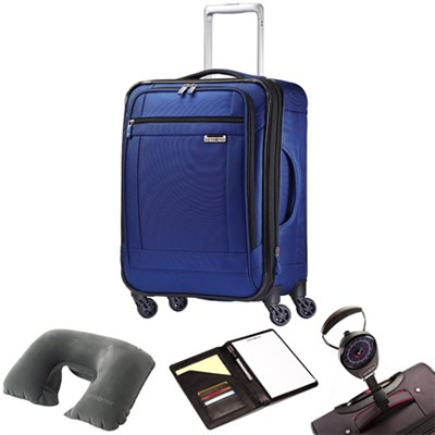 SoLyte 29` Expandable Spinner Upright Suitcase True Blue 73852-1875 w/Travel Kit