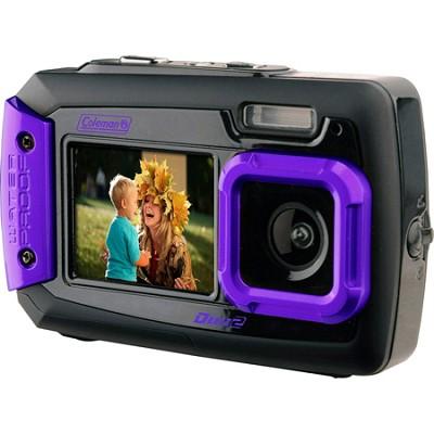 Duo2 2V9WP Rugged Dual Screen Waterproof Camera - Purple