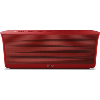 MobiOut Splash-Resistant Wireless Bluetooth Speaker with Jump-Start - Red