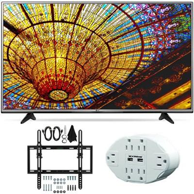 43UH6030 - 43-Inch 4K UHD Smart LED TV w/ webOS 3.0 Tilt Wall Mount Bundle
