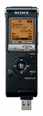Digital Flash Voice Recorder (Black)