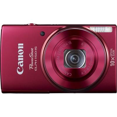 PowerShot ELPH 150 IS 20MP 10x Opt Zoom Digital Camera - Red