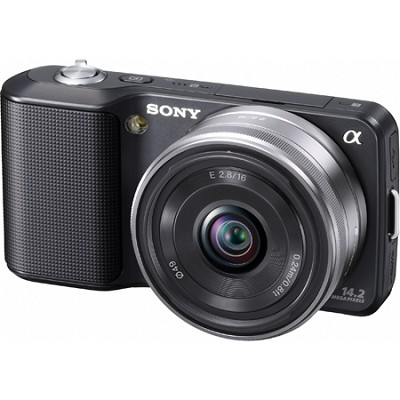 Alpha NEX-3 Interchangeable Lens Black Digital Camera w/ 16mm Lens - OPEN BOX