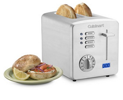 CPT-170 Brushed Stainless-Steel 2-Slice Toaster with Countdown Timer