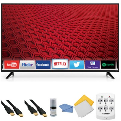E60-C3 - 60-inch 120Hz 1080p LED Smart HDTV + Hookup Kit