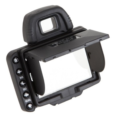 Snap-on Pro LCD Pop-up Shade & Protective Cover for Nikon D90