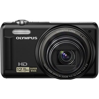 VR-320 14MP 12.5x Super Wide Zoom Black Digital Camera