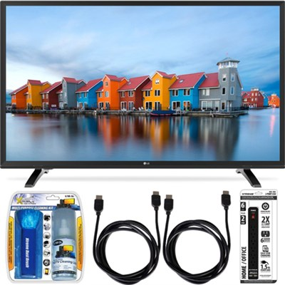 43LH5000 43-Inch Full HD 1080p LED TV Essential Accessory Bundle