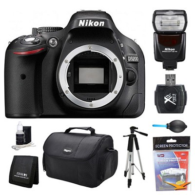 D5200 DX-Format Digital SLR Camera Body Flash Kit