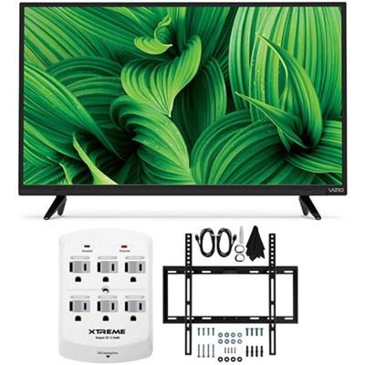 D39hn-E0 D-Series 39` Class Full-Array LED TV w/ Flat Wall Mount Bundle