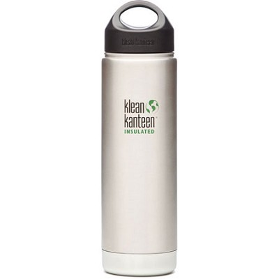 20oz Wide Mouth Insulated Water Bottle with Loop Cap (Stainless Steel)
